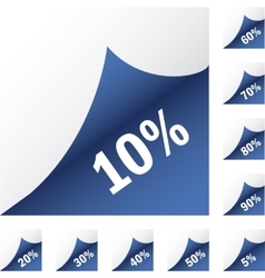 Blue paper sickers with discount vector image vector image