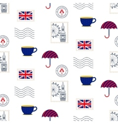 British symbols seamless pattern vector image vector image