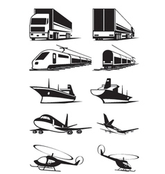 Cargo transportation in perspective vector image vector image