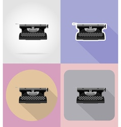 multimedia flat icons 15 vector image vector image