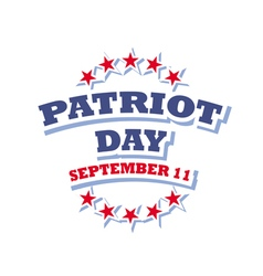 Patriot Day USA logo isolated on white background vector image vector image