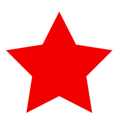red star flat icon vector image