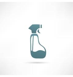 Spray Pistol Cleaner Plastic Bottle vector image vector image