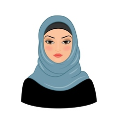 Arabic muslim woman vector image