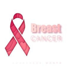 breast cancer awareness symbol pink ribbon vector image