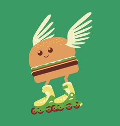 Burger hot delivery vector