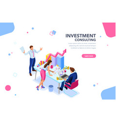 business adviser team concept vector image