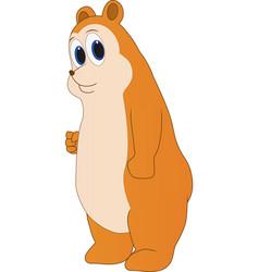 Cartoon of a friendly chubby bear vector