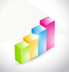 colorful 3d looking graph vector image