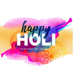 colorful of holi festival vector image
