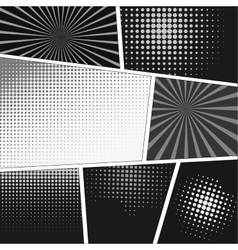 Comics popart style blank layout template vector