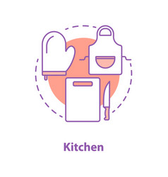 Cooking accessories concept icon vector