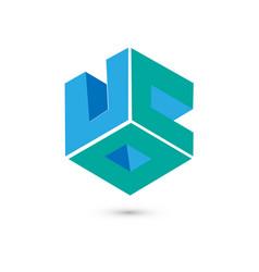 cube logo concept flat vector image