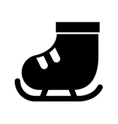 cute black icon ice skate vector image
