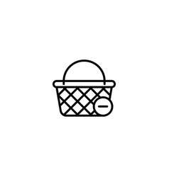 delete from basket icon vector image