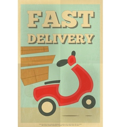 Delivery Poster vector