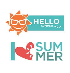 different summer emblems vector image
