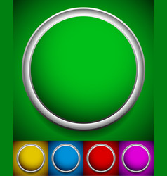 empty circles in various colors green yellow blue vector image