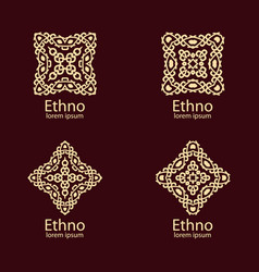 Ethnic signs and design elements vector