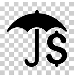 Financial umbrella icon vector