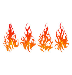 fire icon set design element vector image