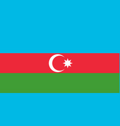 flag in colors of azerbaijan image vector image
