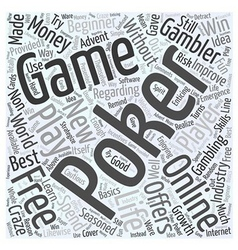 Free online poker games Word Cloud Concept vector
