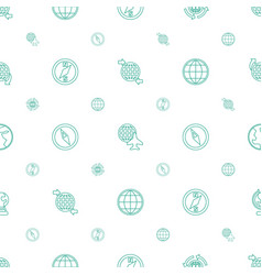 Geography icons pattern seamless white background vector