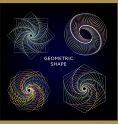 Geometry symbols collection hipster abstract vector