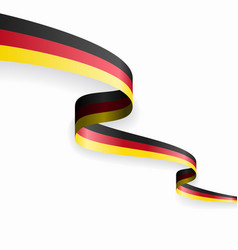 German flag wavy abstract background vector