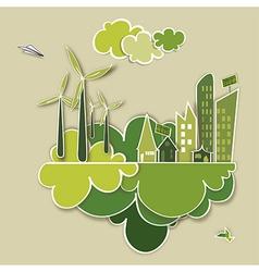 Go green concept city vector