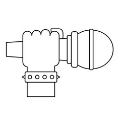 hand microphone icon outline style vector image