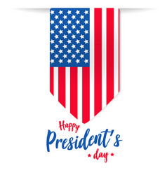 Happy presidents day background or banner g vector