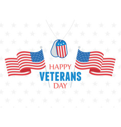 happy veterans day us military armed forces vector image