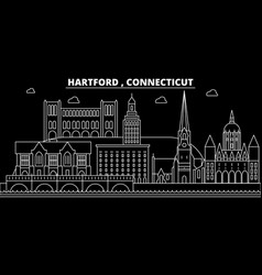 hartford silhouette skyline usa - hartford vector image