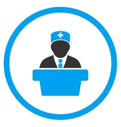 Health Care Official Rounded Icon vector