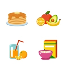 Healthy breakfast food vector