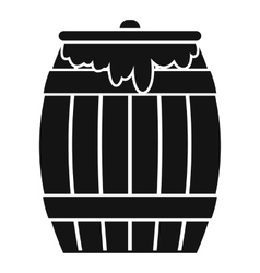 Honey keg icon simple style vector image