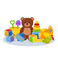 kid toys playing room vector image