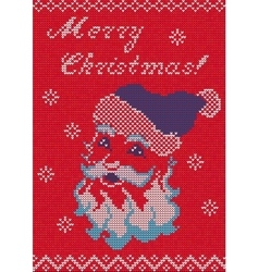 Knitted Sweater card vector