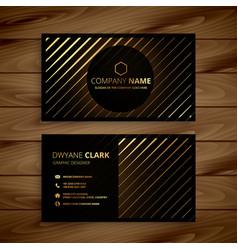 luxury golden line dark business card vector image