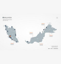Malaysia infographic map vector
