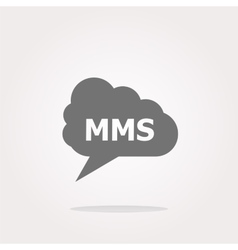 mms glossy web icon isolated on white vector image vector image
