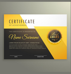 Modern certificate template with clean geometric vector