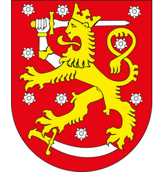 national coat arms finland vector image