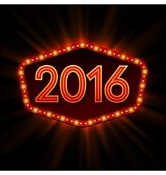 New Year Retro llight frame vector image