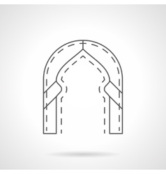Oriental arch flat line icon vector