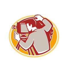 Photographer Vintage Camera Rear Retro vector image