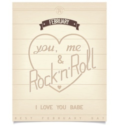 Poster with quote for valentines day vector