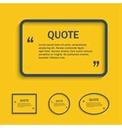 Quote text box line vector image